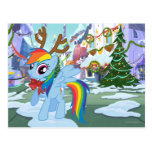Rainbow Dash Reindeer Post Cards