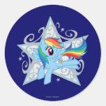 Rainbow Dash Star Stickers