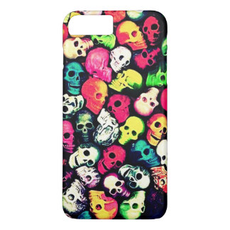 rainbow death skulls iphone 7 plus case