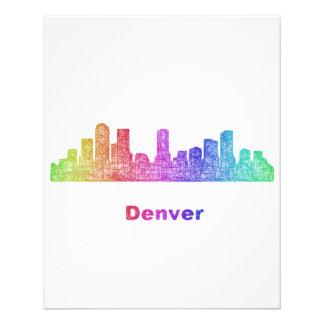 Rainbow Denver skyline 11.5 Cm X 14 Cm Flyer