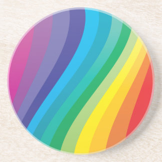 Rainbow design coaster