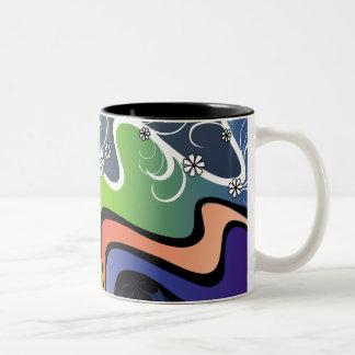 rainbow design coffee mug