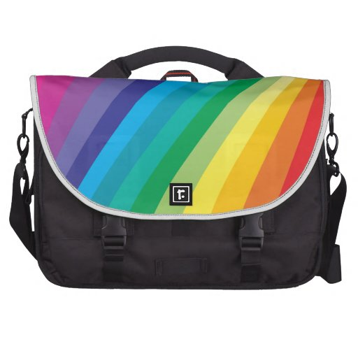Rainbow design laptop computer bag