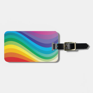 Rainbow design luggage tag