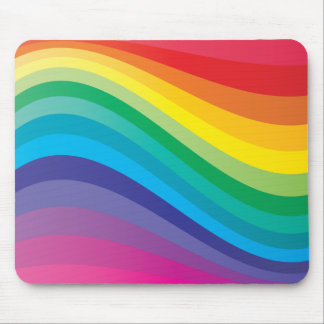 Rainbow design mouse pad