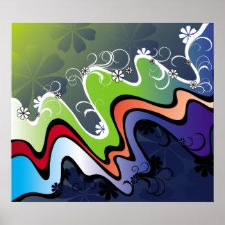 rainbow design poster