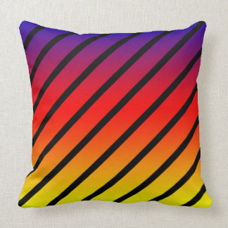 Rainbow Diagonal Stripes, Big Throw Cushion. Cushion
