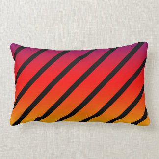 Rainbow Diagonal Stripes, Lumbar Cushion. Lumbar Cushion