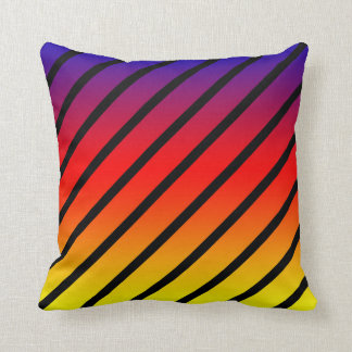 Rainbow Diagonal Stripes, Throw Cushion. Cushion