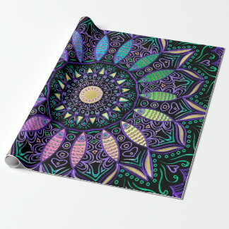 Rainbow Dial Mandalas Wrapping Paper