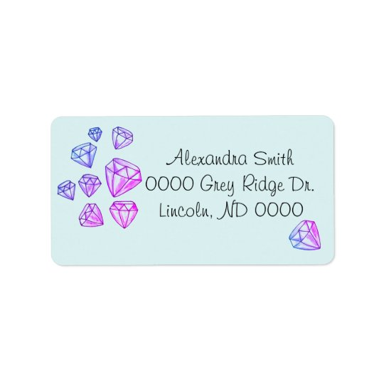 Rainbow Diamond Address Labels