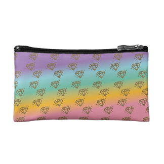 Rainbow Diamond Makeup Bag