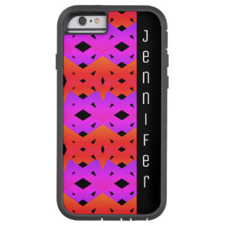 Rainbow Diamond Pattern with Name Tough Xtreme iPhone 6 Case