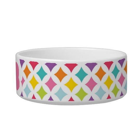 Rainbow Diamond Print Personalised Bowl