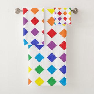 Rainbow Diamonds Bath Towel Set