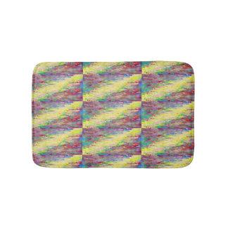 rainbow digital stripe bathmat