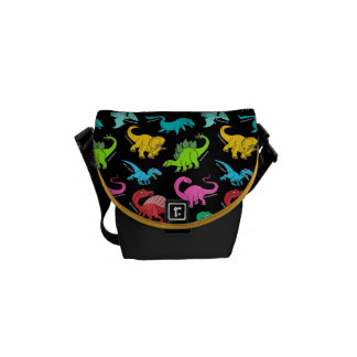 Rainbow Dinosaurs back to school bag Commuter Bag