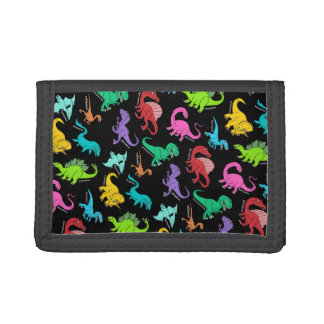 Rainbow Dinosaurs Trifold Wallet