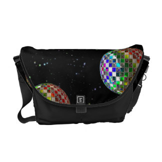 Rainbow Disco Party In Space Commuter Bags