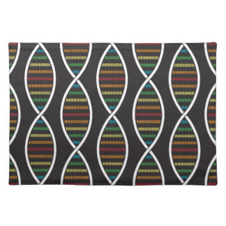 Rainbow DNA Strands Placemat
