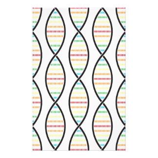 Rainbow DNA Strands Stationery