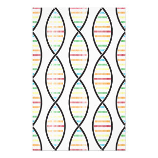 Rainbow DNA Strands Stationery Paper
