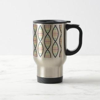 Rainbow DNA Strands Travel Mug