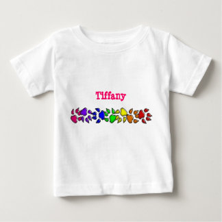 rainbow dog print baby T-Shirt