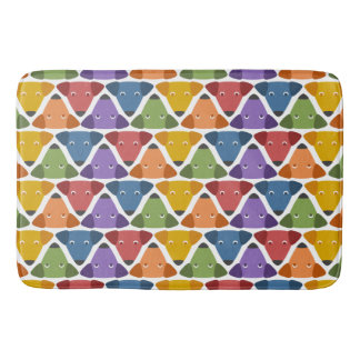 Rainbow Dogs Bath Mat