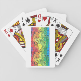 Rainbow dogs poker cards