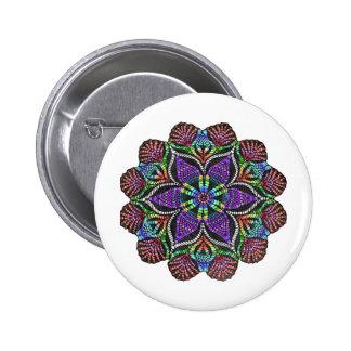 Rainbow Doily Mosaic 6 Cm Round Badge