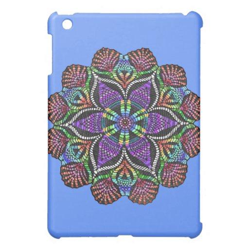 Rainbow Doily Mosaic iPad Mini Covers
