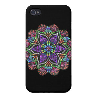 Rainbow Doily Mosaic iPhone 4 Cover