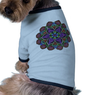 Rainbow Doily Mosaic Ringer Dog Shirt