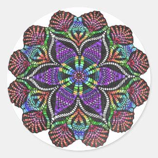Rainbow Doily Mosaic Sticker
