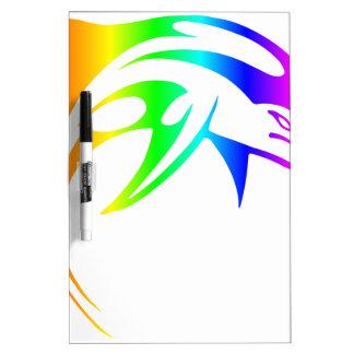 Rainbow Dolphin Dry Erase Board