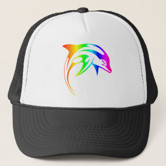 Rainbow Dolphin Trucker Hat