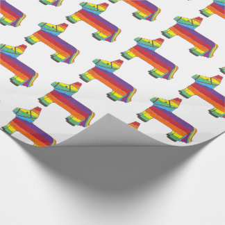 Rainbow Donkey Piñata Birthday Party Fiesta Pride Wrapping Paper