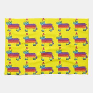 Rainbow Donkey Piñata Fiesta Birthday Party Pride Tea Towel