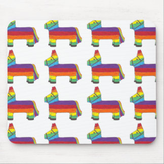 Rainbow Donkey Piñata Party Favor Fiesta Celebrate Mouse Pad