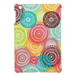 Rainbow Doodle Lace Doily Mandala Circles Cover For The iPad Mini