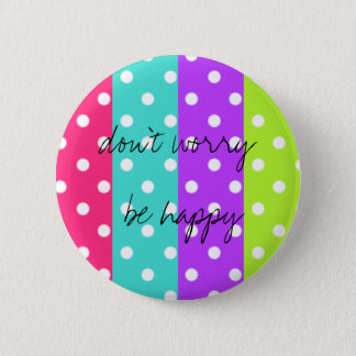 rainbow dot 6 cm round badge