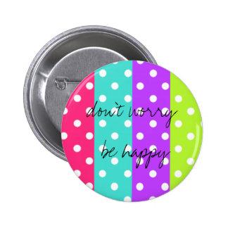 rainbow dot 6 cm round badge