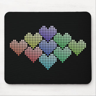 """""""Rainbow Dot Hearts"""" Colorful Mouse Pad"""