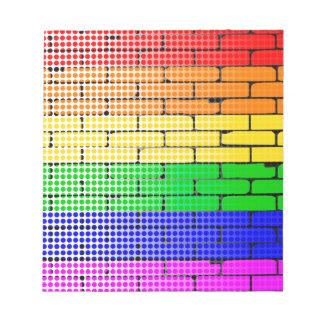 Rainbow Dot Matrix Notepad