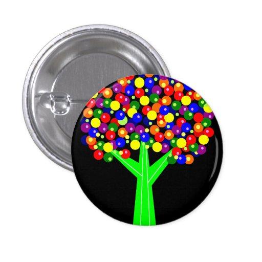 Rainbow Dotberry Tree Pins