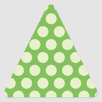 Rainbow Dots Collection - Lime Green 1 Triangle Sticker