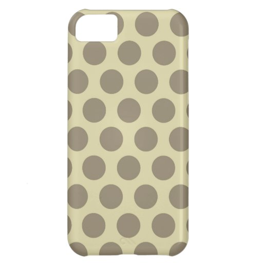 Rainbow Dots Collection - Vintage Yellow Brown Cover For iPhone 5C