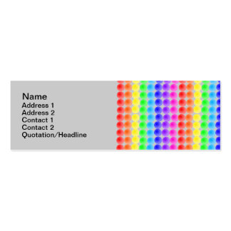 rainbow dots pack of skinny business cards