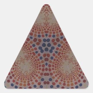 Rainbow Dots Triangle Stickers